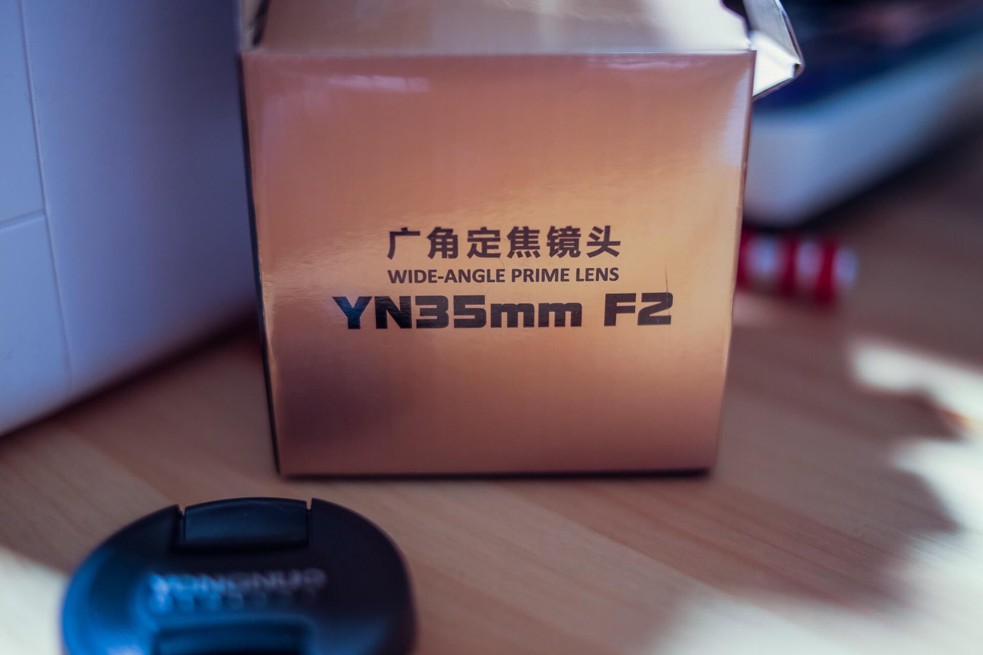 объектива yongnuo YN 35mm f/2